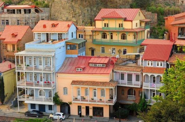 Colorful Houses in the Old Town area of Tbilisi
