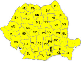 42 Romanian Counties Get Code Yellow Warning For Strong Winds