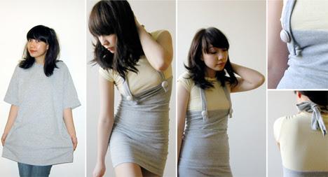 Ideia para customizar camiseta e transformar em vestido