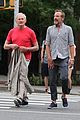 victor garber ubby rainer go for a stroll in nyc 01