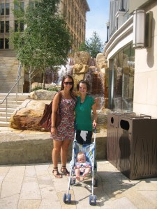 City Creek with my cousin Talissa