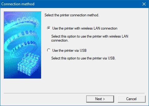 El software de configuración de una impresora inalámbrica