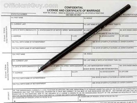 Wedding Officiant California Marriage License LA County