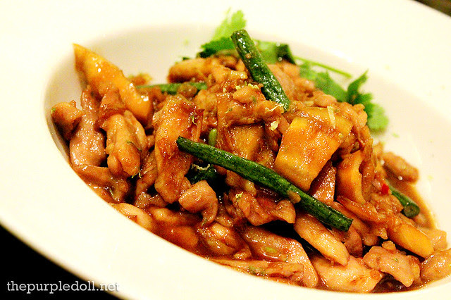 Wok Chicken, Bamboo Shoots and Yard Beans P225