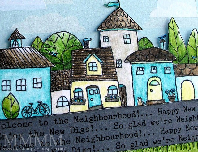 Embossing DETAIL Squigglefly Whimsy Town by mel stampz