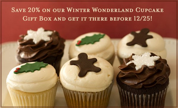 Send holiday cupcakes to arrive by Christmas!