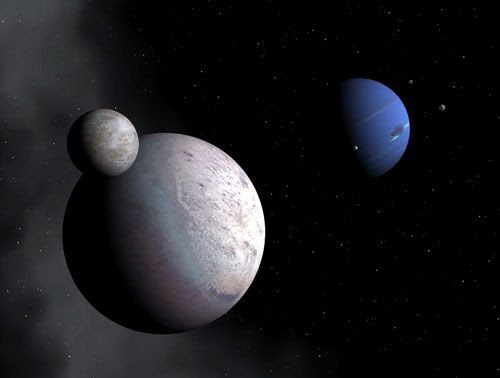 An artist's concept of the Neptunian system.