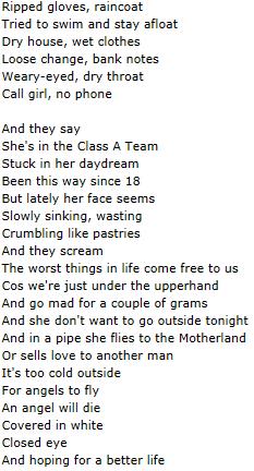 Lyrics Mamma A
