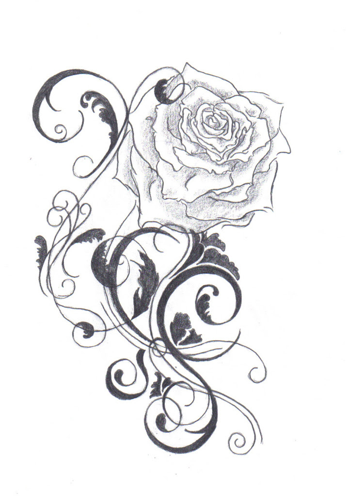Free Line Drawing Rose Download Free Clip Art Free Clip Art On
