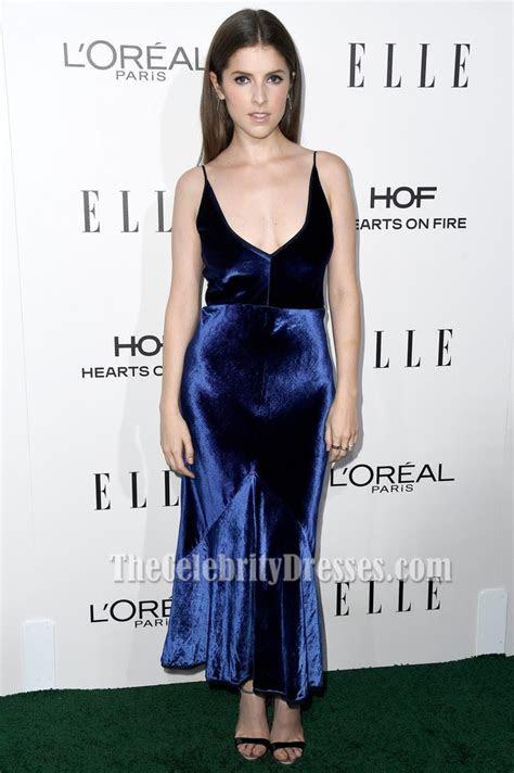 Anna Kendrick Royal Blue V neck Evening Dress 23rd Annual