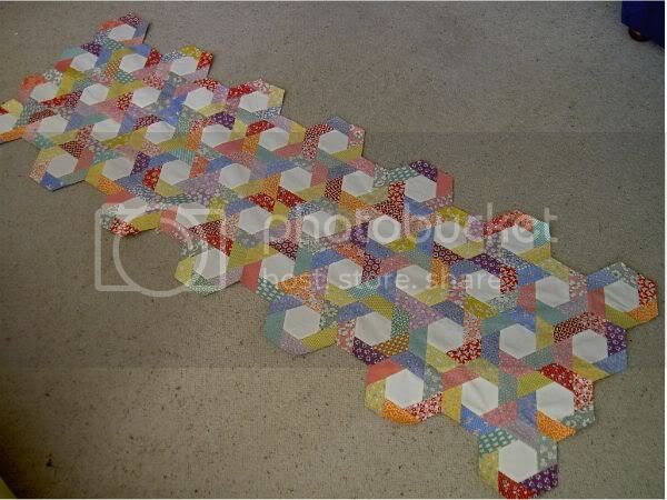 Hexagon quilt at June 1 2005