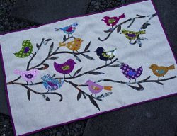 Birds and Branches Applique Wall Art