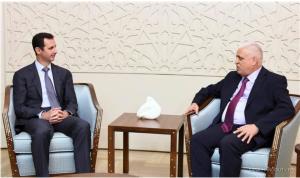 אסד והיועץ העיראקי לביטחון לאומי