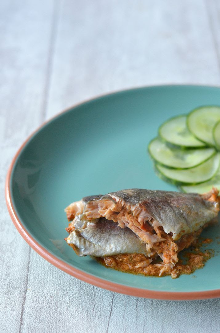 Trout with Red Pesto