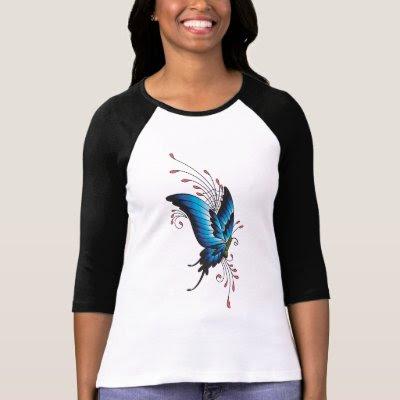 Butterfly Tattoo T-Shirt by tattoofashion