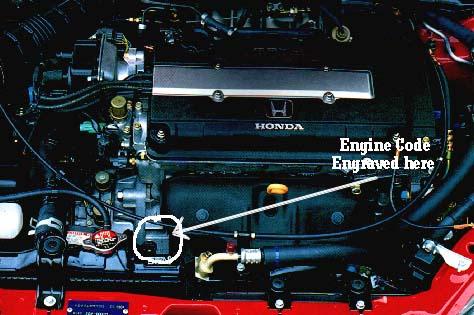 Determining The Engine Code Of A Honda Engine
