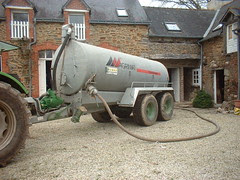 The farmer arrived with a massive tanker to empty the septic tank