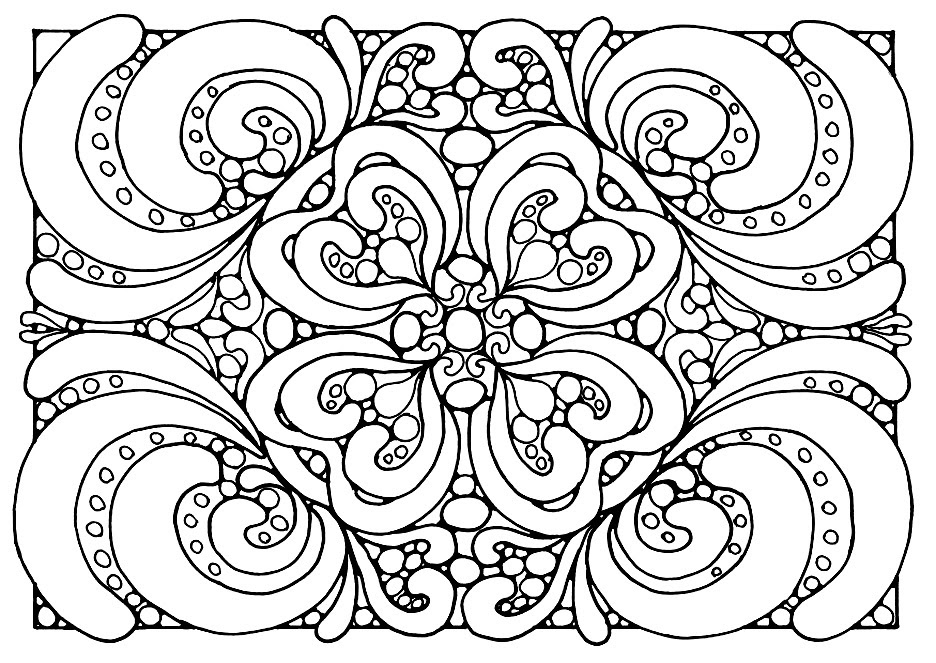 Coloring Pages For Adults Abstract - Carinewbi