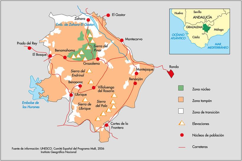 Sierra De Grazalema Mapa.Sierra De Grazalema Mapa Mapa