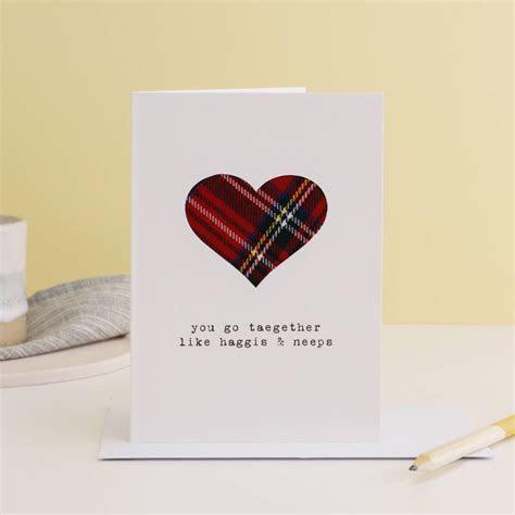 'you go taegether' scottish greetings card by hiya pal