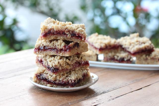 Oatmeal Cherry Jam Bars