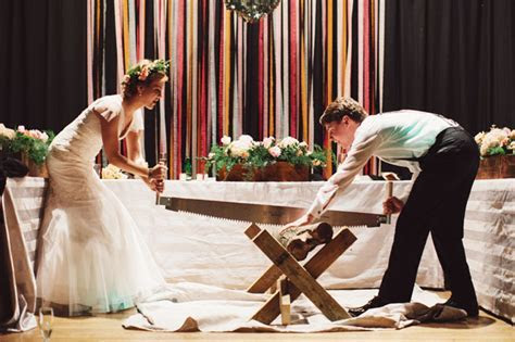 Log Cutting Ceremony   Southern Bride and Groom Magazine