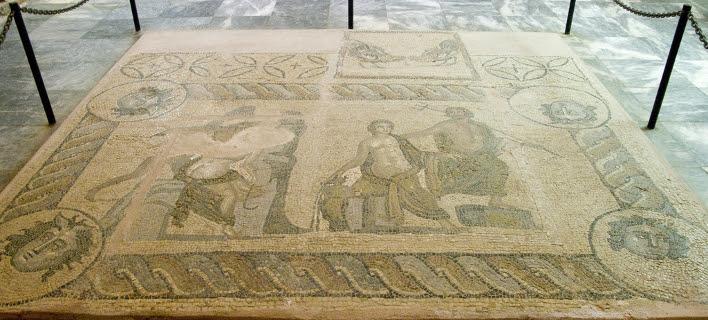 Ψηφιδωτό δάπεδο στο Μουσείο Χανίων/Φωτογραφία: Δήμος Χανίων