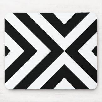 Black and White Chevrons mousepad