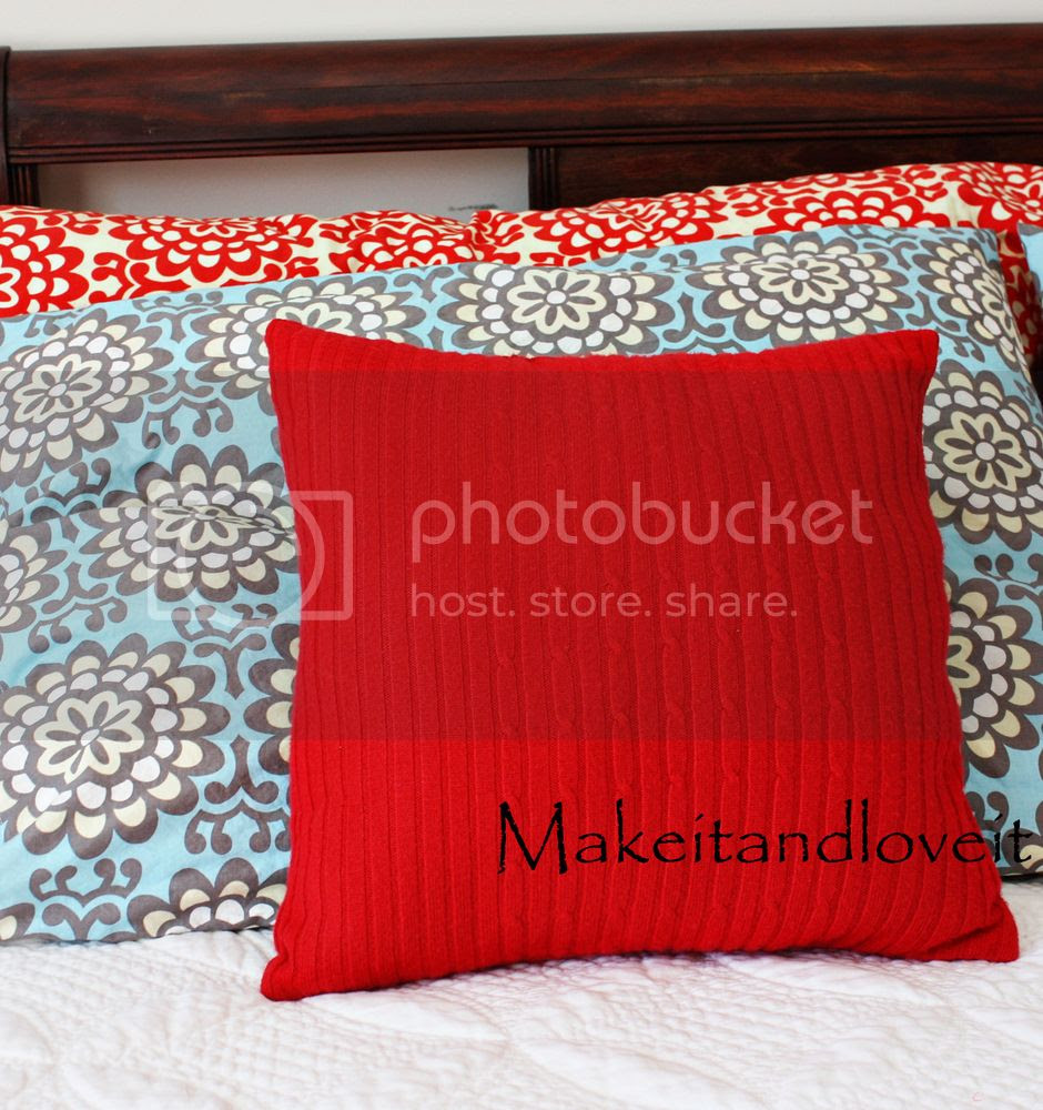 Decorate My Home, Part 5 – Re-purposed Sweater Pillow | Make It ...