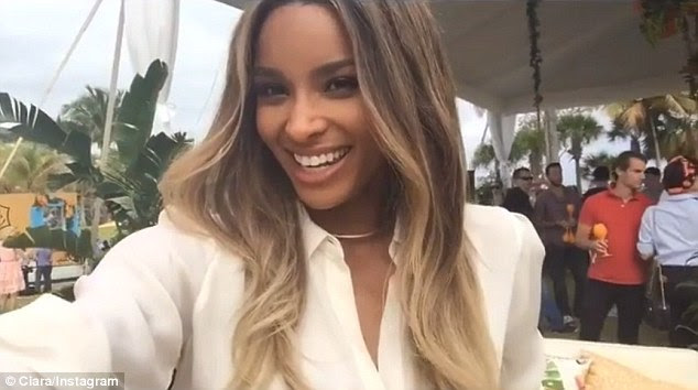 'Hola everybody': Ciara Instagrammed a playful video of herself basking in the festivities