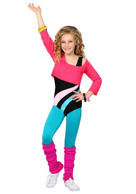 child  workout girl costume