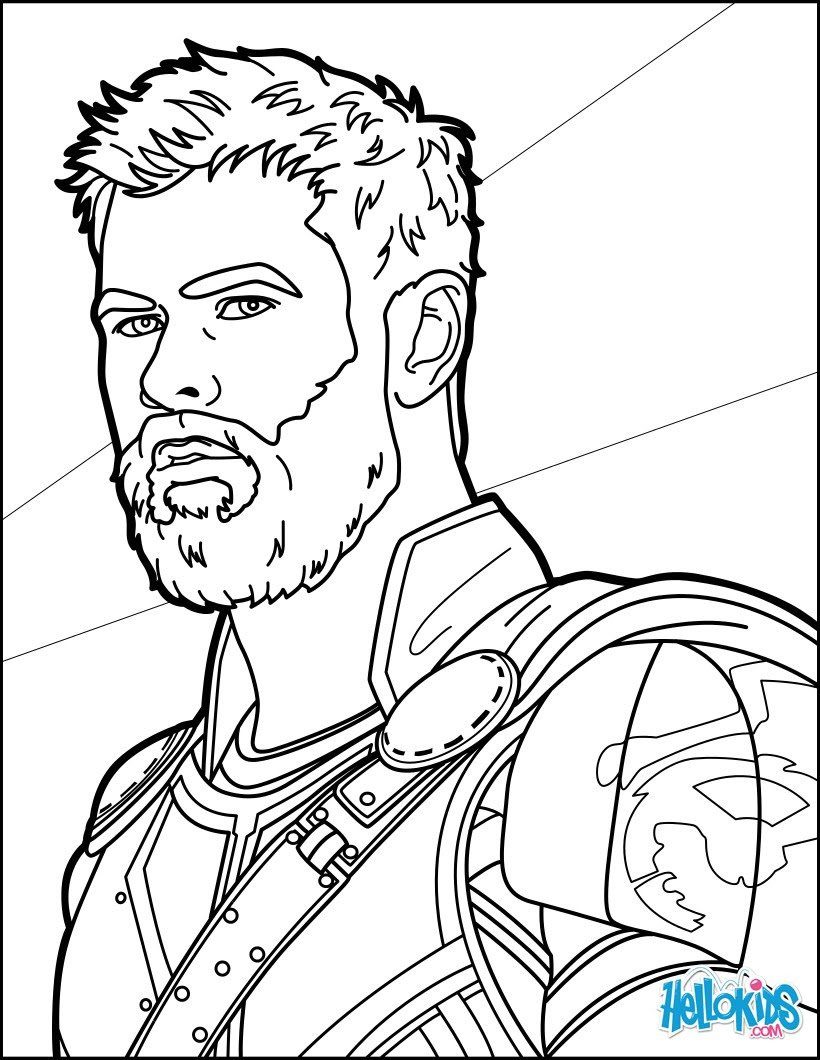 Marvel The Avengers Thor Pdf Coloring Pages | 1060x820