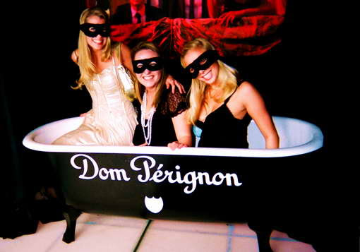 bain de champagne Dom Pérignon au VIP Room