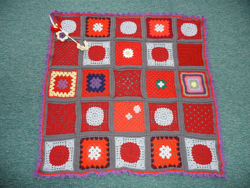Thanks to everyone who contributed Squares for this Blanket. Gorgeous!