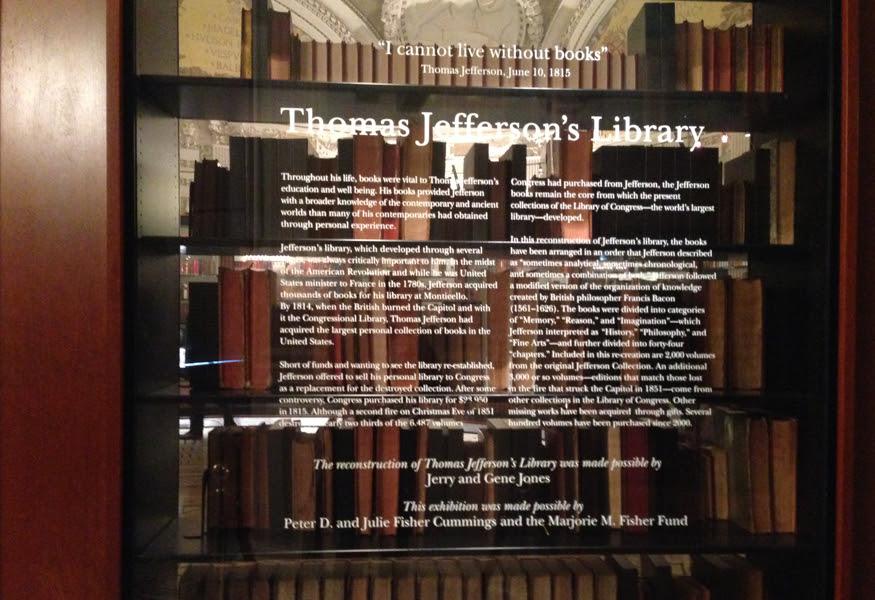 Library of Congress Thomas Jefferson Library Exhbibition