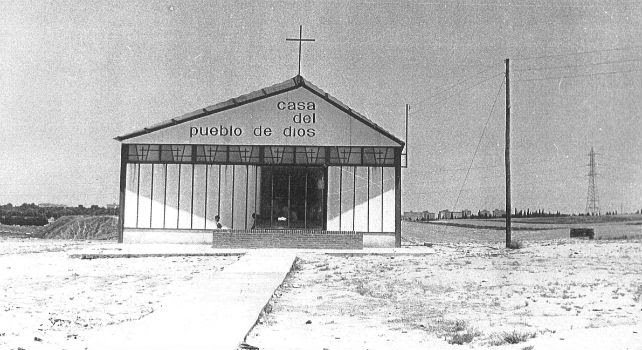 Parroquia de Moratalaz en 1966 donde ejercía el cura obrero Mariano Gamo