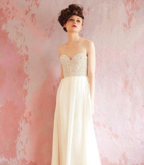Blush Lazaro Wedding Gown: Wedding Dress Collection: Blush Pink Wedding Dress