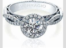 Verragio Venetian Collection Pave Diamond Engagement Ring With Halo AFN 5005R