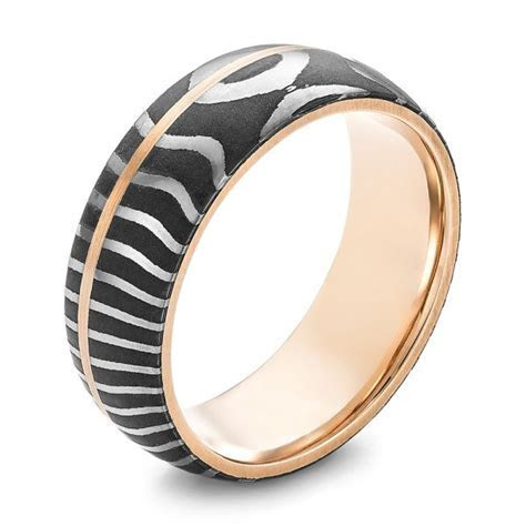 Custom Two Tone Men's Wedding Band #102970   Seattle