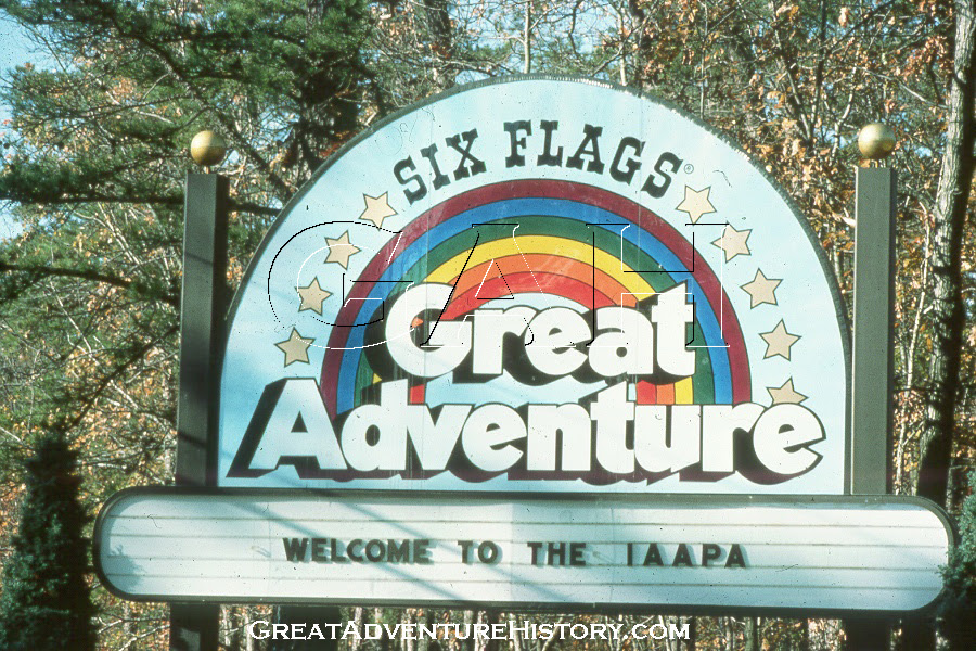 six flags great adventure nj map. Lion Sign At Six Flags Great