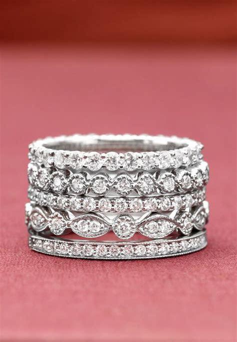 Stacking Diamond Rings   Wedding, Promise, Diamond