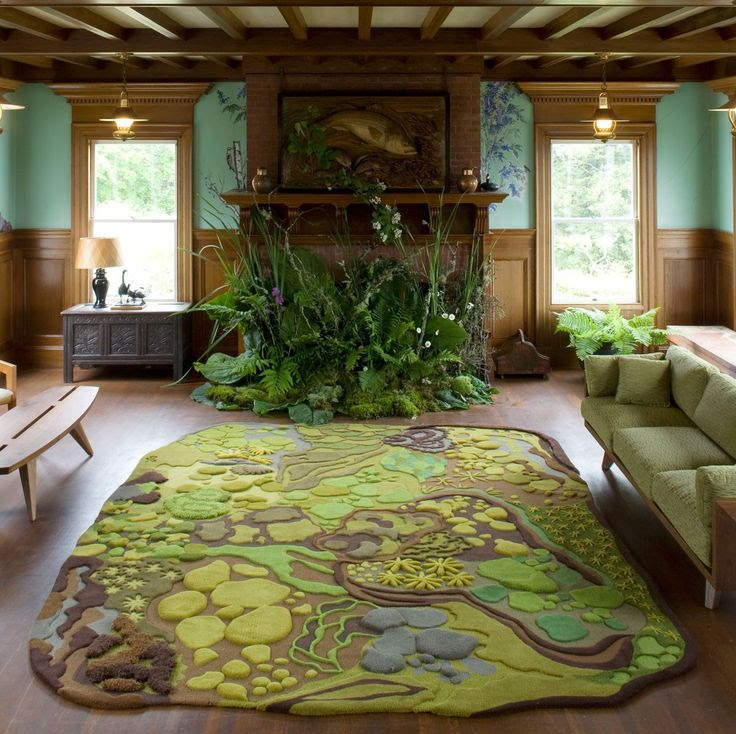 How About A Forest Themed Living Room With Angela Adams