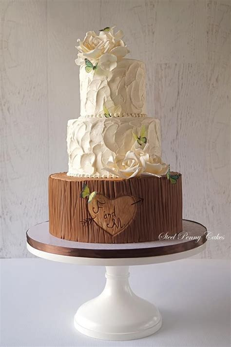 118 best rustic wedding cakes images on Pinterest   Cake