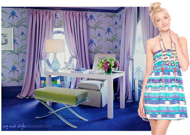 dress and room blue