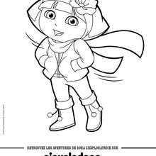 Coloriages Dora En Maillot De Bain Frhellokidscom