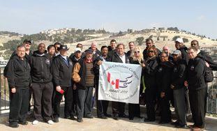 The pastors visit the City of David