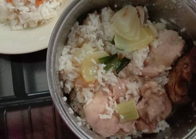 Resep Nasi ayam rice cooker yang Bikin Ngiler