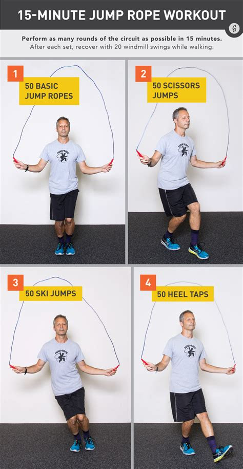 minute jump rope workout  healthyhello