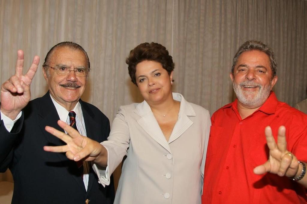 Dilma-Sarney-Lula