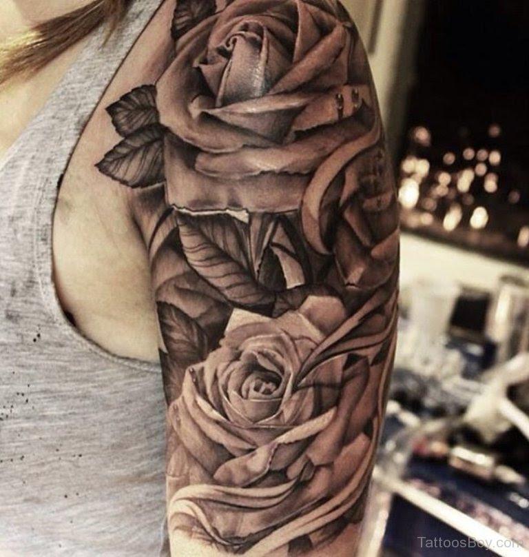Black Rose Tattoo On Half Sleeve Tattoo Designs Tattoo Pictures